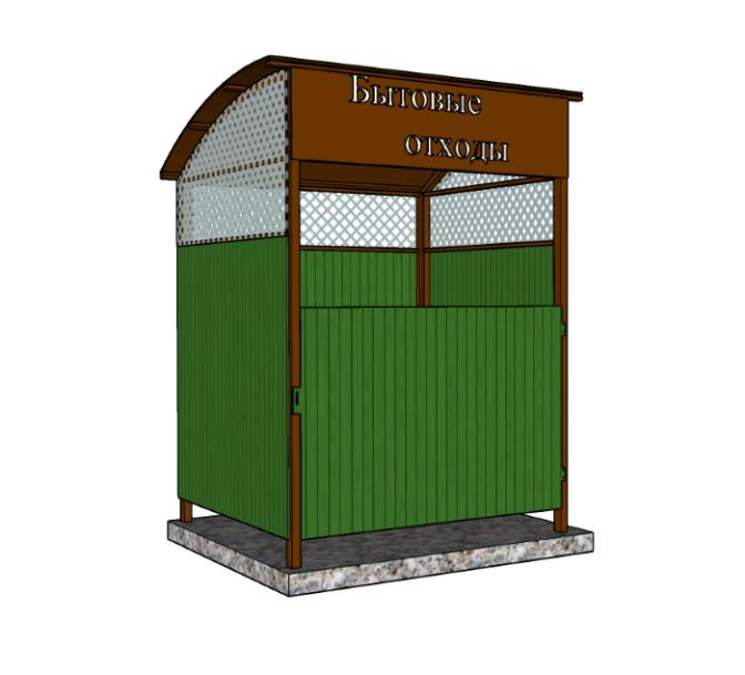 Ограждение для контейнерной площадки