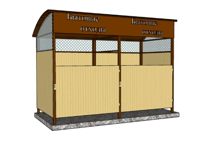 Ограждение для контейнерной площадки 2-2